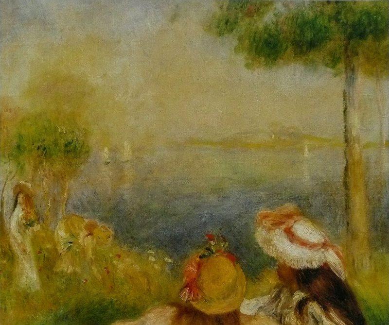 impressionnistes Pierre-Auguste_Renoir_-_Jeunes_Filles_au_bord_de_la_mer