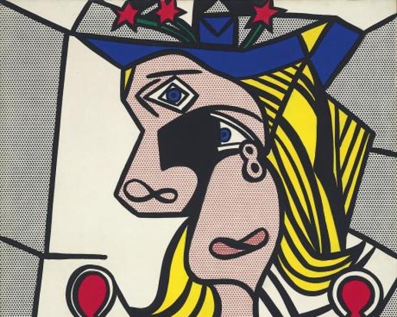 roy_lichtenstein_woman_with_flowered_hat_1963_magna_on_canvas_127_x_1016_cm_collection_privee