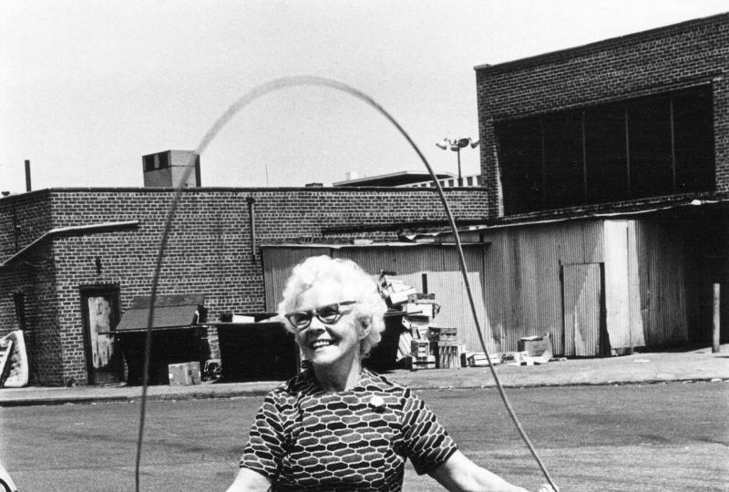 Isabel Croft Jumping Rope, Brooklyn. NY. 1972