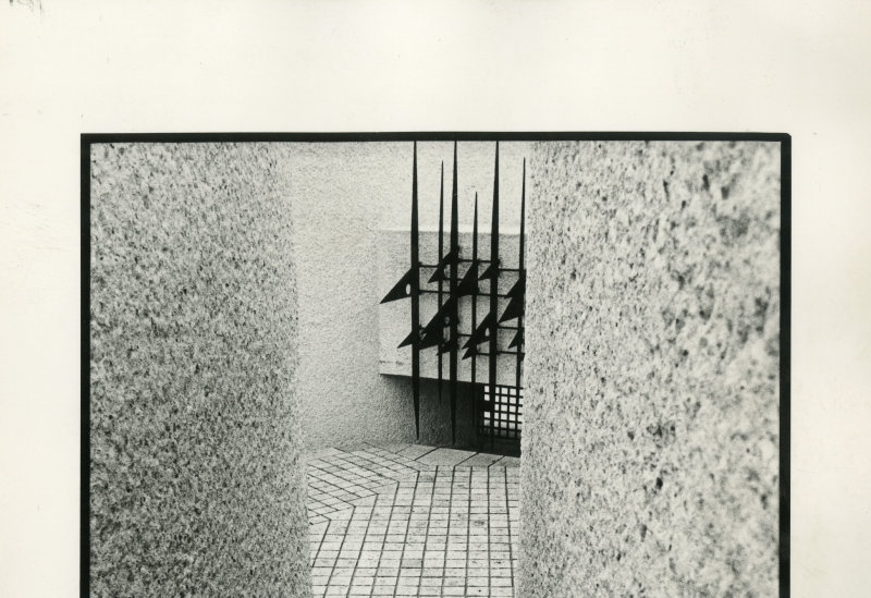 1954-1962. Mémorial des martyrs de la Déportation, Paris 4e, vue de l'escalier sud menant au parvis, n.d.
