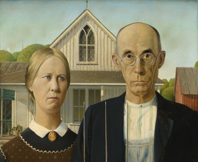 Grant Wood - American Gothic