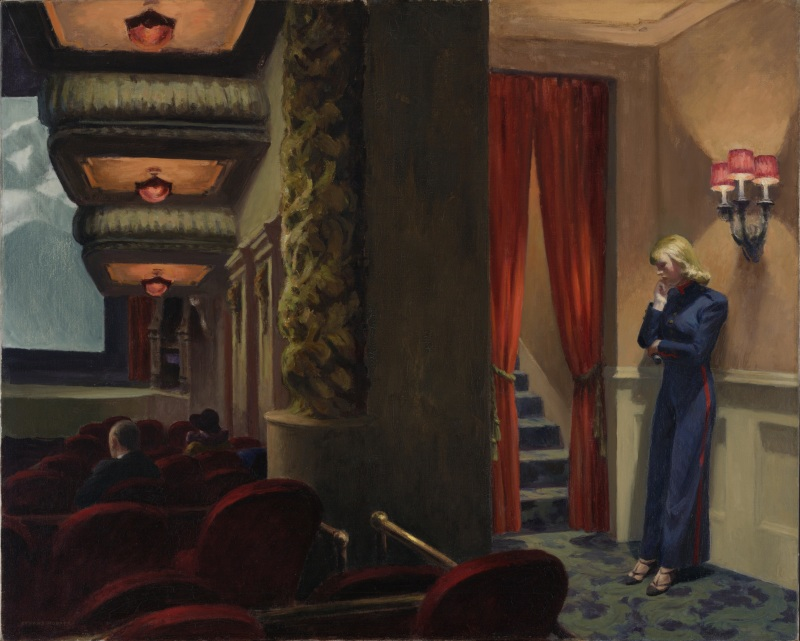 Hopper, Edward (1882-1967): New York Movie, 1939. New York, Museum of Modern Art (MoMA)*** Permission for usage must be provided in writing from Scala.