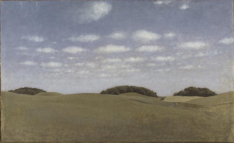 Vilhelm Hammershøi: Landskap. Från Lejre. NM 2248