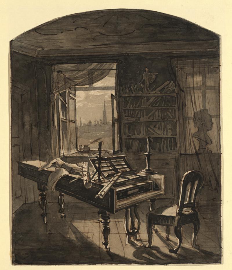 Le salon d'etude de Beethoven