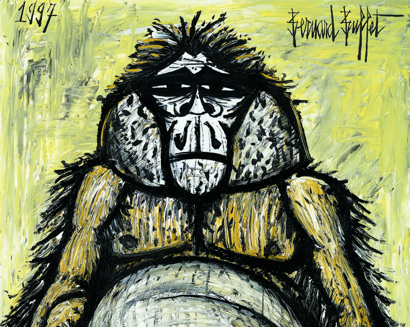 56-mes-singes-orang-outan-femelle-1997-huile-sur-toile-162x130cm