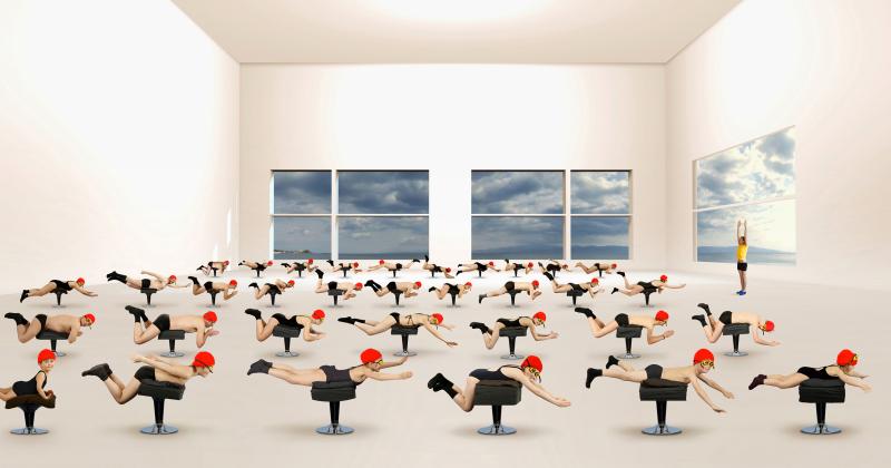 muriel-bordier-la-lecon-de-natation-serie-les-thermes-2014-courtesy-galerie-annie-gabrielli