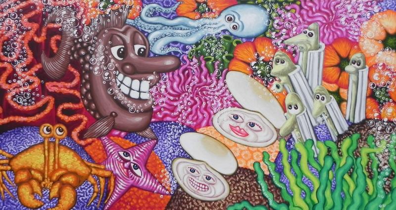 herve-di-rosa-acrylique-sur-toile-112x210cm-sous-marine-aux-coraux