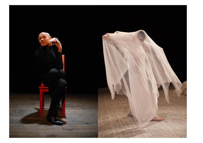 Yves Marc dans Ce corps qui parle, 2012. Claire Heggen dans Ombre claire, 2013.