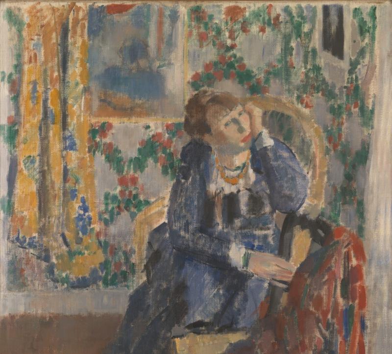Woman with the yellow necklace - Rik Wouters - Musée Royal des Beaux Arts en Belgique - Bruxelles