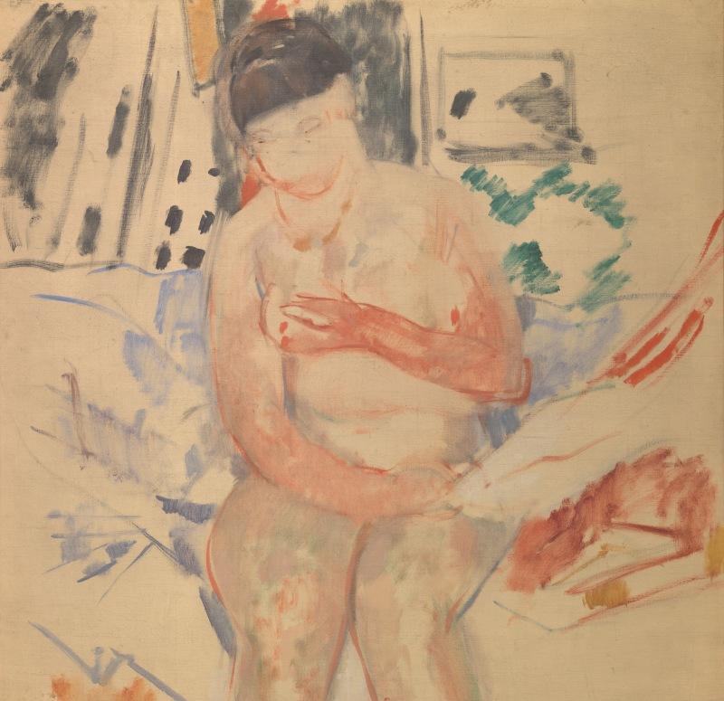 Nude Seated on the edge of a bed - Rik Wouters - Musée Royal des Beaux Arts en Belgique - Bruxelles