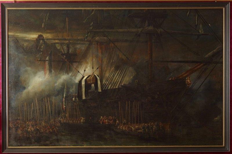 enévement du cercueil de napoléon Ier bord de la frégate la belle poule 15 octobre 1840