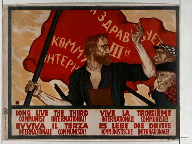 Affiche Vive la 3eme Internationale communiste - Apres Babel Traduire, Mucem
