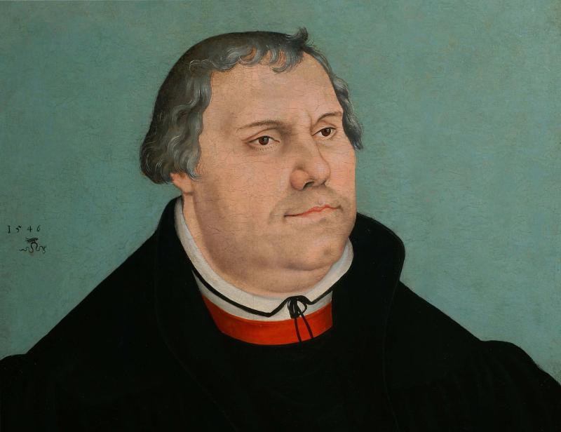Cranach le Jeune Portrait de Martin Luther 1546 - Apres Babel Traduire, Mucem