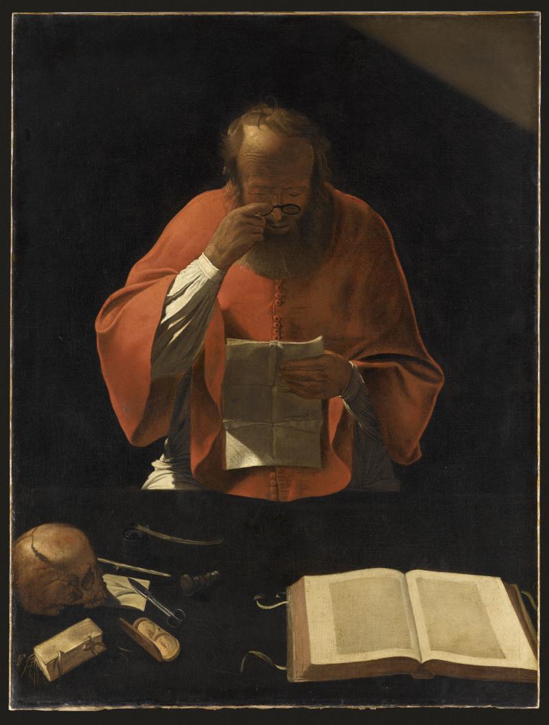 Georges de La Tour, Saint-Jerome lisant_XVIIe  - Apres Babel Traduire, Mucem