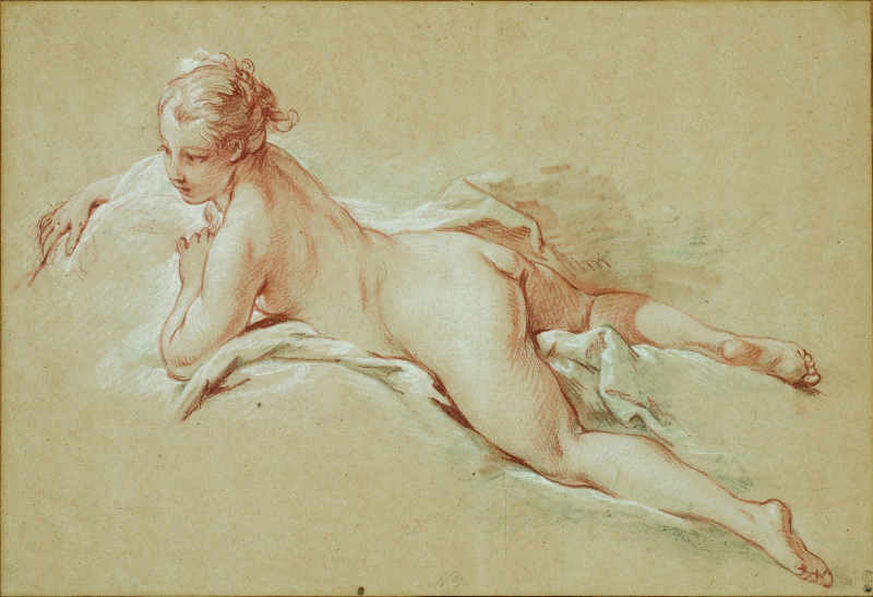 Boucher femme nue allongée, De Watteau à David - La Collection Horvitz