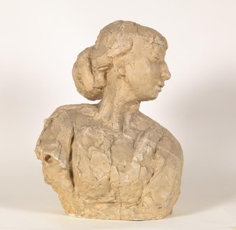 Leaning bust - Rik Wouters - Musée Royal des Beaux Arts en Belgique - Bruxelles