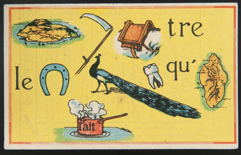 Carte_reclame_rebus  - Apres Babel, Traduire, Mucem