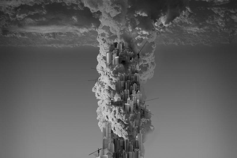 Yang Yongliang HeavenlyCity_Skyscraper Apres Babel Traduire, Mucem