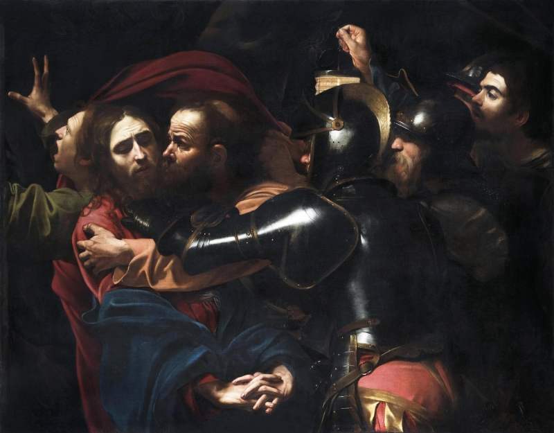Le Caravage (1571-1610), The Taking of Christ, 1602
