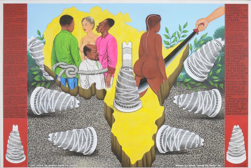Cheri Samba les Tours de Babel - Apres Babel Traduire, Mucem