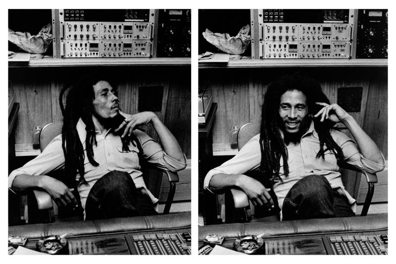 Bob Marley in His Tuff Gong studio