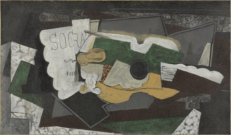Braque, Guitare et verre, 1921