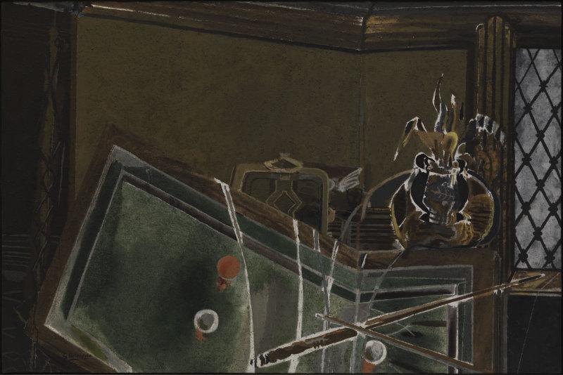 Braque, Le billard, 1944