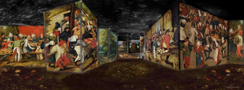Bosch, Brueghel, Arcimboldo : fantastique et merveilleux aux Carrières de Lumières jusqu'au 7 janvier 2018