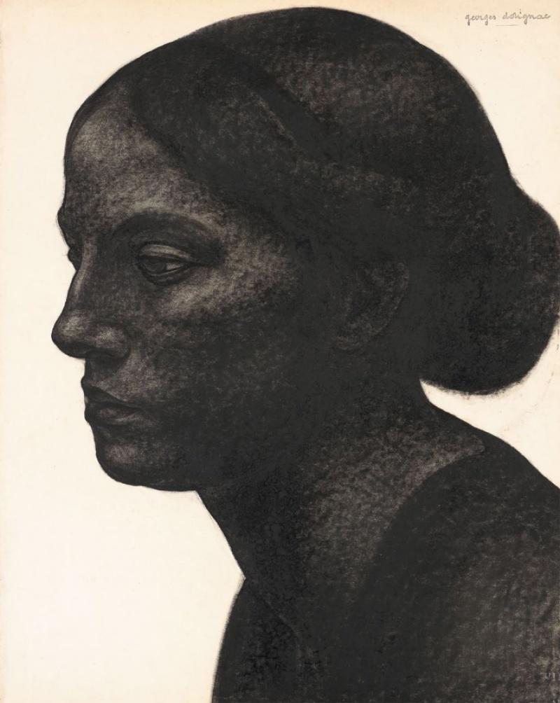 Portrait de femme au chignon, Georges Dorignac , 1913-1914