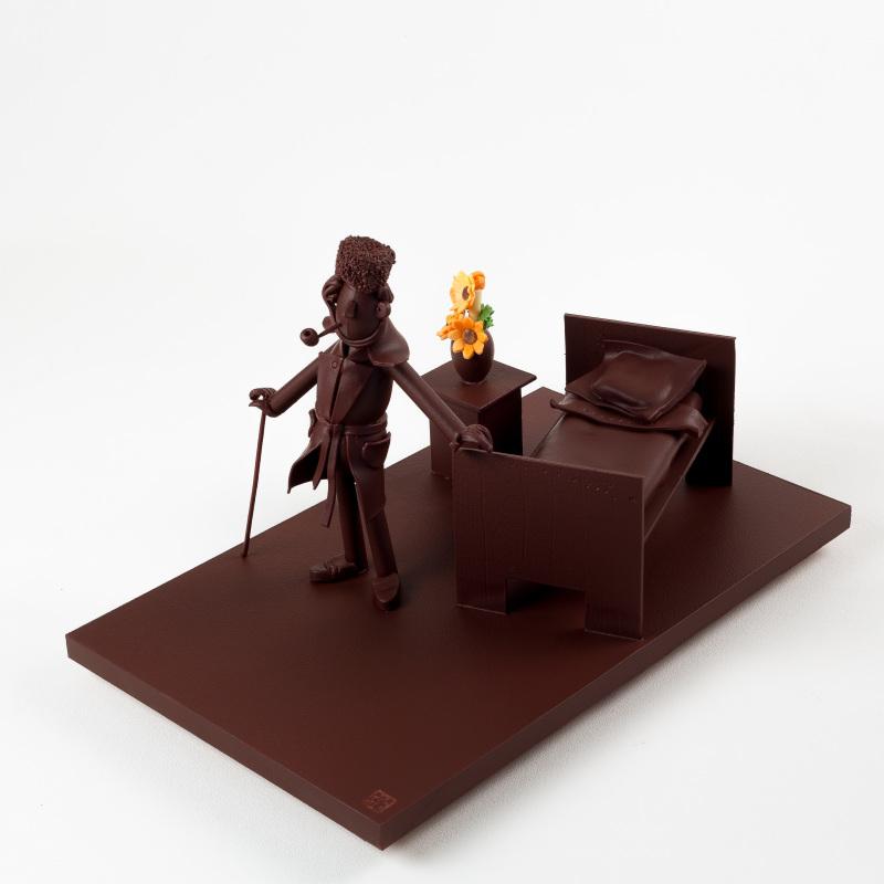 Drome (26), Tain L'Hermitage, cité du chocolat Valrhona, Exposition Influences, Petite histoire de l'art en chocolat par Luc Eyriey, du japonisme à l'impressionnisme, du manga à la bande dessinée, des arts sur l'art chocolaté - Tain L'Hermitage, Tokyo, Paris, New-York