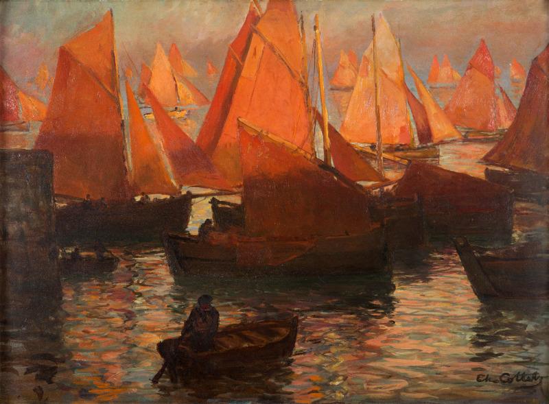 Cottet - Voiles, La modernité en Bretagne, de Claude Monet à Lucien Simon au Musée de Pont-Aven