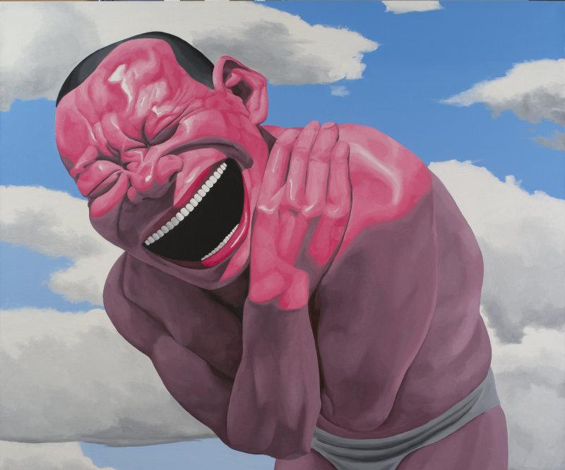 Blue Sky and White Clouds, 2013 - Yue Minjun - Portrait de galeriste - Bernard Templon, institut Magrer de Bordeaux