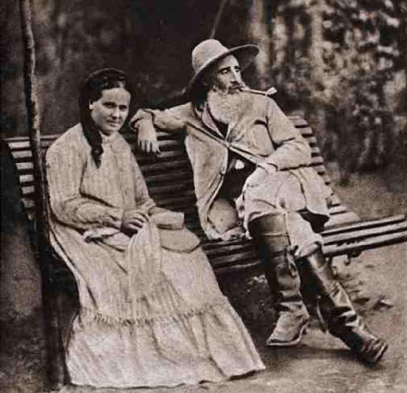 Camille Pissarro et sa femme , Julie Vellay, 1877, Pontoise