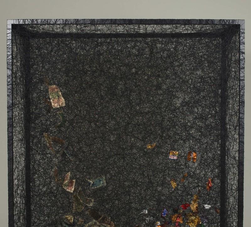 Chiharu Shiota, State of being (Money and candy wrappers), 2013 - Chiharu Shiota  - Portrait de galeriste - Bernard Templon, institut Magret de Bordeaux