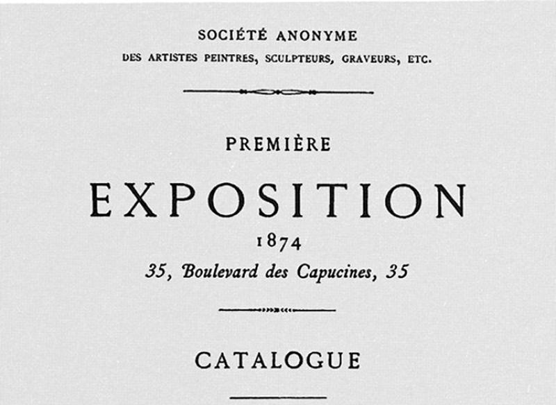 Catalogue, Première exposition Impressionniste
