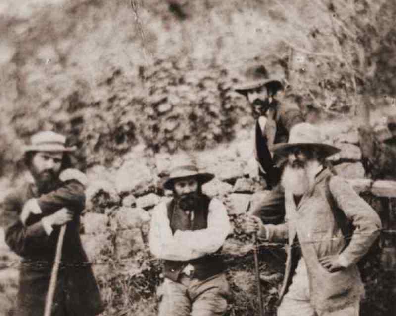 Photo de Pissarro avec Cézanne à Pontoise, 1874