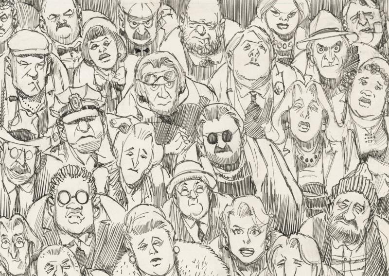 City People Notebook detail - Will Eisner - Cite Internationale de la Bande Dessinee - Angouleme