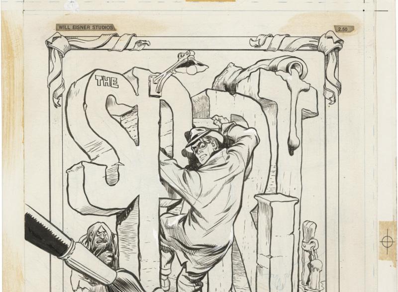 Couverture du spirit coloring book - Will Eisner - Cite Internationale de la Bande Dessinee - Angouleme