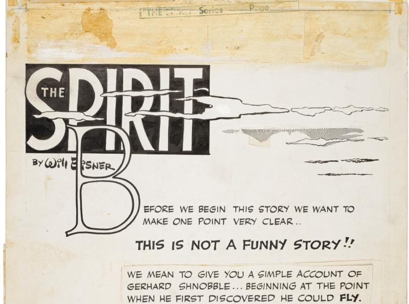 Spirit gerhard schnobble page - Will Eisner - Cite Internationale de la Bande Dessinee - Angouleme