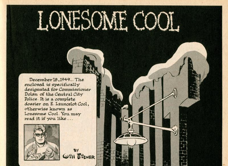the spirit lone some cool - Will Eisner - Cite Internationale de la Bande Dessinee - Angouleme