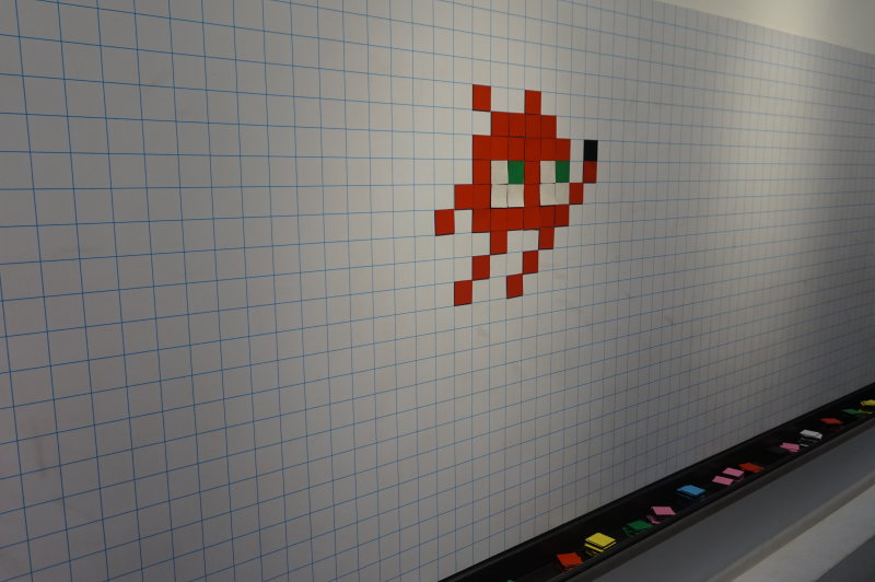 Capture de l'exposition, My Game is... Invader, au Musée en Herbe