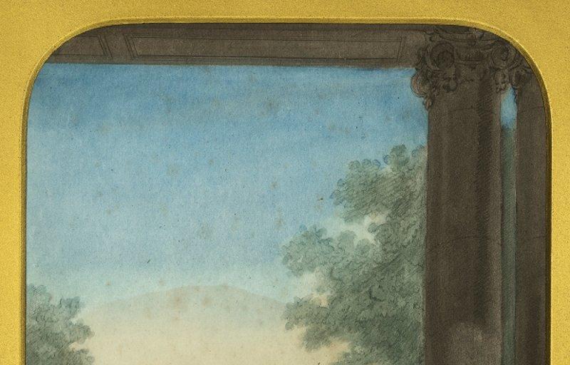 Mozart père, son fils et sa fille, gravure d'après Carmontelle, 1764.