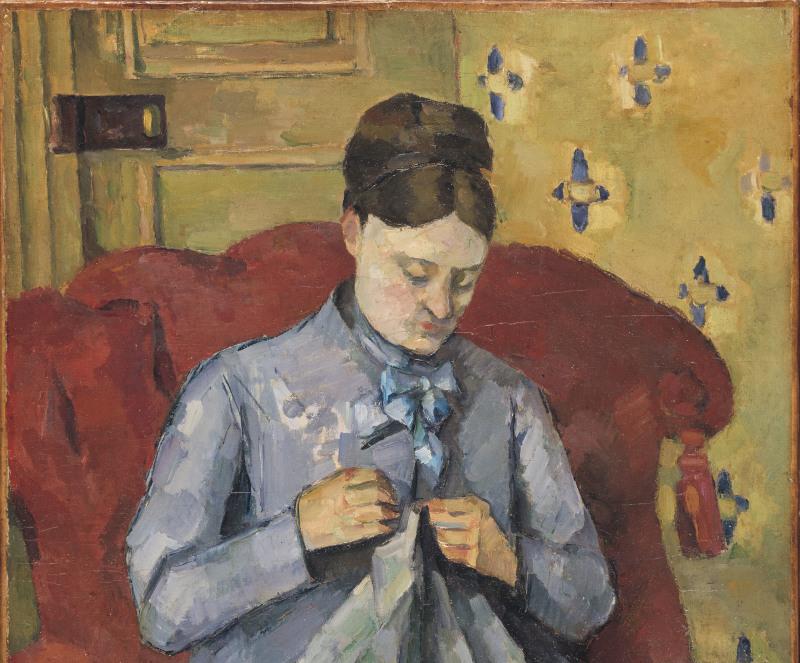 Paul Cezanne: Porträtt av konstnärens hustru. NM 6348