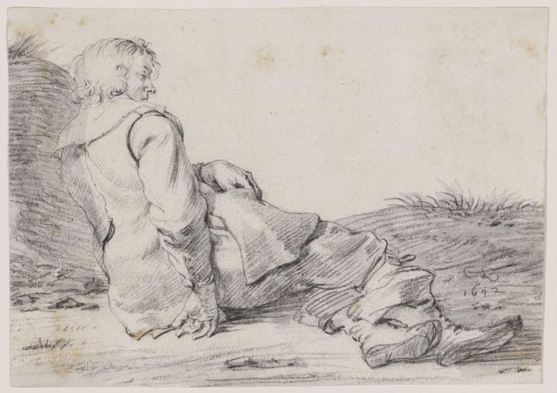 Cornelis Saftleven (1607–1681), Chasseur endormi, 1642