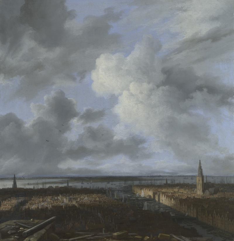 Jacob van Ruisdael (1628/29–1682), Panorama d'Amsterdam, du port et de l'IJ, vers 1665-1670