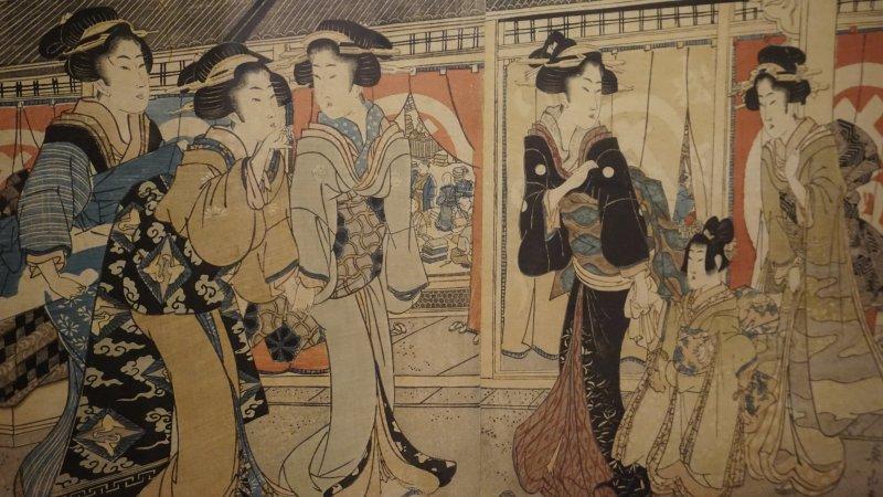 Vue exposition Kimono musee Guimet