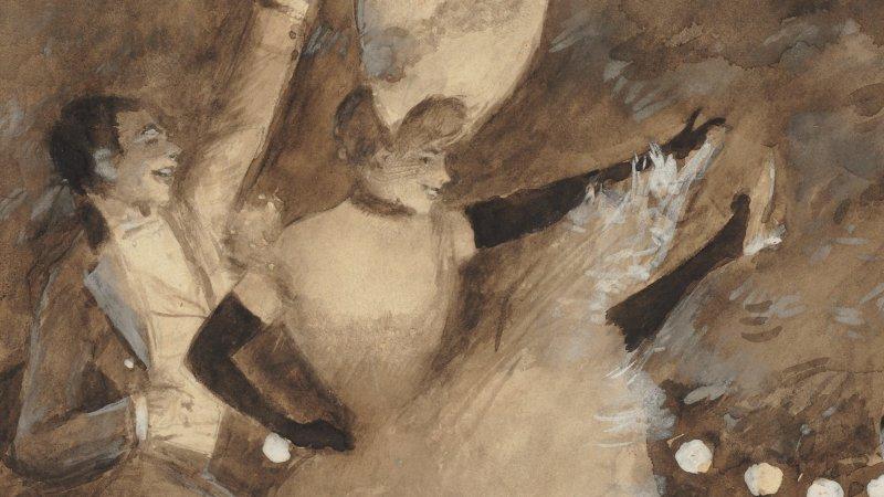Jean Béraud (1848-1935) Valmy et Léa, vers 1885-1895 - exposition Tintamarre - Musée des Impressionnismes, Giverny