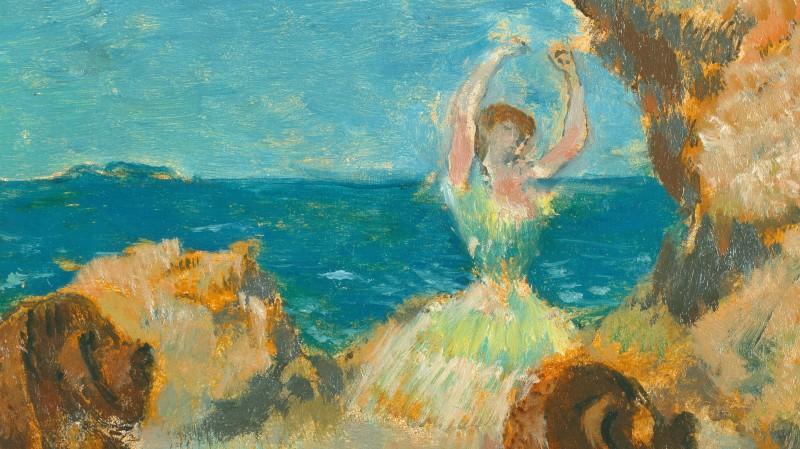 Gemälde / Mahagoni (1891) von Edgar Degas [1834 - 1917]<BR>Bildmass 22 x 15,8 cm<BR>Inventar-Nr.: 2418<BR>Systematik: <BR>Kulturgeschichte / Tanz / Ballett / 19. Jh.