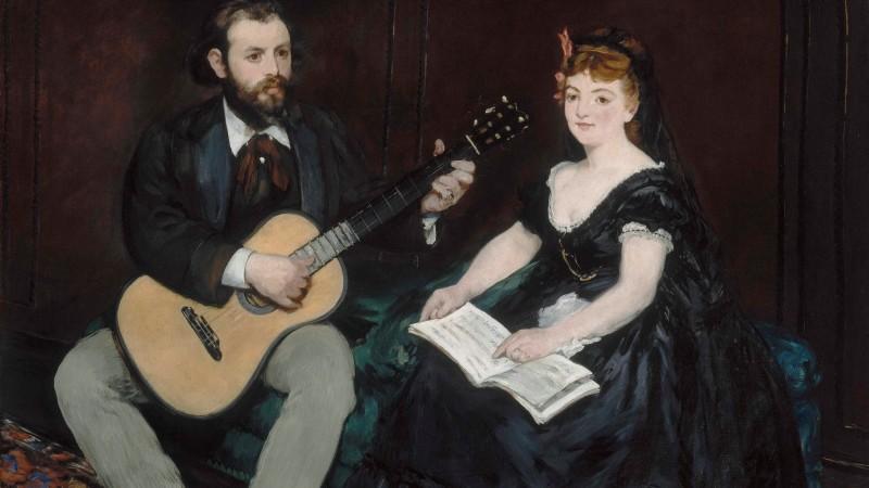 Édouard Manet (1832-1883) La Leçon de musique, 1870 - exposition Tintamarre - Musée des Impressionnismes, Giverny