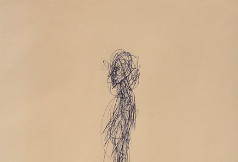 Giacometti, Femme debout, C. 1960, dessin